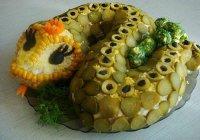 Новогодний салат «Змея»