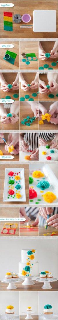 Цветы для украшения тортов из смоквы