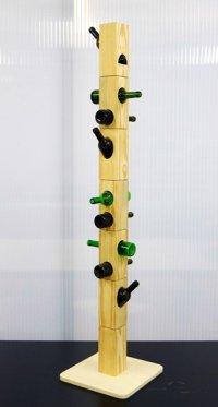 Модульная вешалка Bottle Coat Rack из пустых бутылок