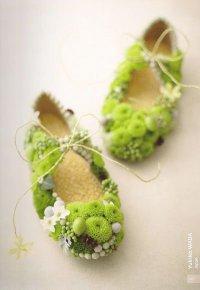 Симпатичные балетки из цветов