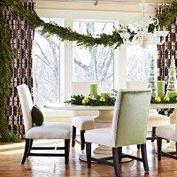 Идеи новогоднего декора: гирлянда из самшита