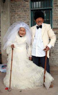 Первое свадебное фото спустя 88 лет совместной жизни