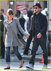 Джастин Тимберлейк и Джессика Бил на показе фильма «007. Координаты: Скайфолл»
