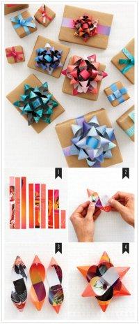Как делать бантики для украшения подарков
