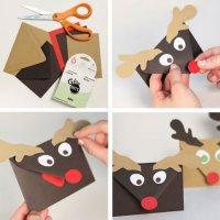 Симпатичные конверты для новогодних приглашений