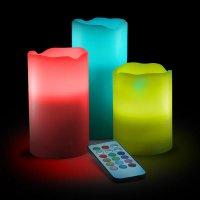Цветные LED-свечи на дистанционном управлении