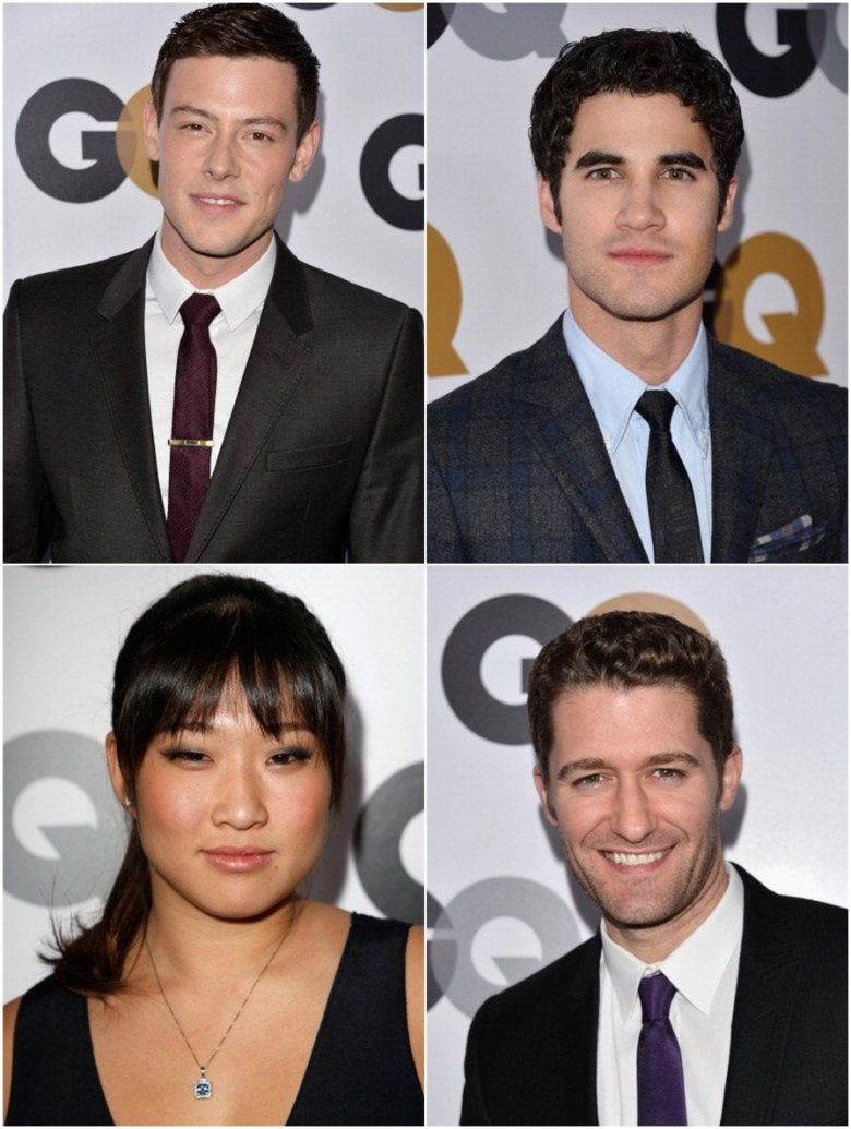 Каст сериала Glee на GQ Men Of The Year Party