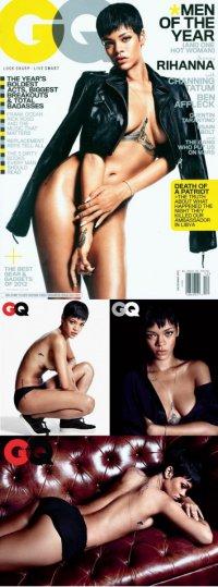 Фотосессия Rihanna для декабрьского номера журнала GQ