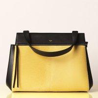 Желтая меховая сумочка от Celine