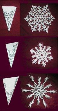 Схемы для вырезания новогодних снежинок