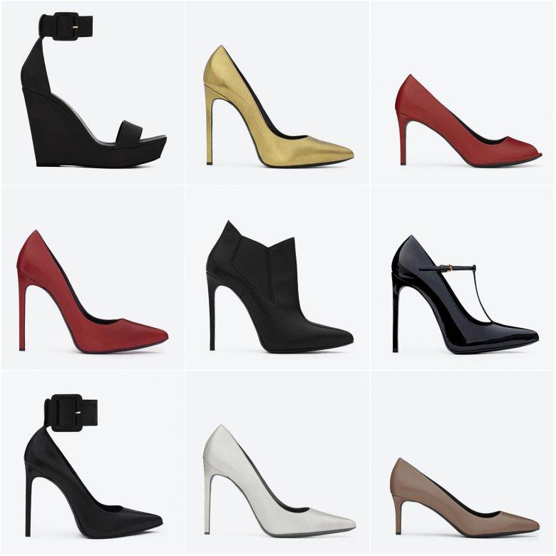 Осенняя коллекция обуви Эди Слимана для Saint Laurent Paris