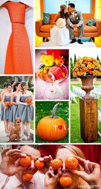 Свадьба в оранжевом цвете