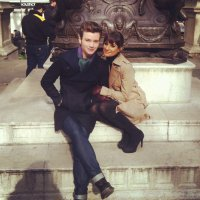 Крис Колфер и Лиа Мишель: фото со съемок в Нью-Йорке