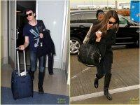 Лиа Мишель и Крис Колфер в Международном аэропорту Лос-Анджелес