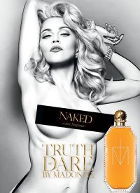 Мадонна в рекламной кампании своего аромата Truth or Dare Naked