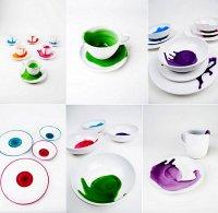 Креативная посуда с кляксами: сервиз Splashes от Giovanna Alo