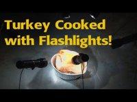 Как поджарить индейку фонариками