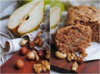 Блюда к посту: медовый кекс с грушей, шоколадом и орехами