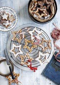 Новогоднее печенье-звездочки