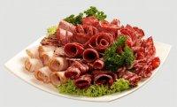Оформление мясной нарезки: завитки и цветы