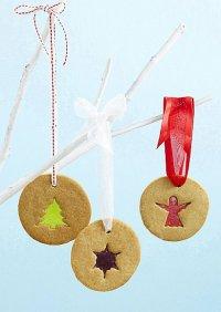«Витражное» новогоднее печенье