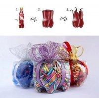 Оригинальная упаковка для подарков из пластиковых бутылок