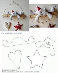 Игрушка «Рождественский котик»