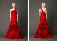 Свадебное платье с оборками от Веры Вонг