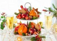Новогодняя сервировка стола: подача фруктов
