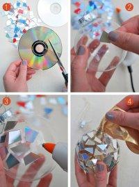 Елочный шар из дисков