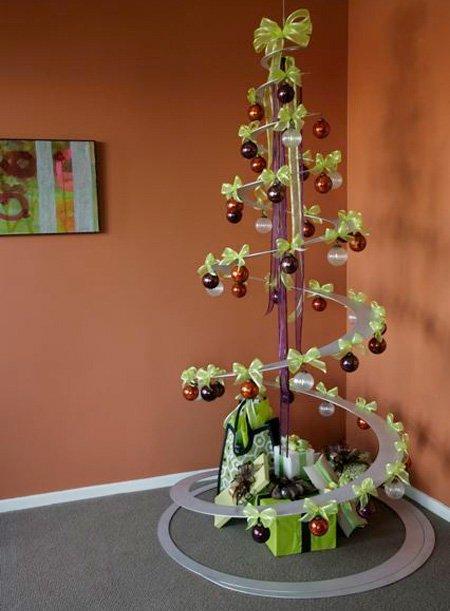 Альтернатива новогодней елке: елка-спираль