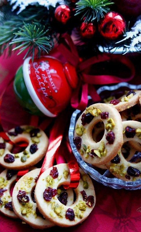 Печенье «Рождественские веночки»