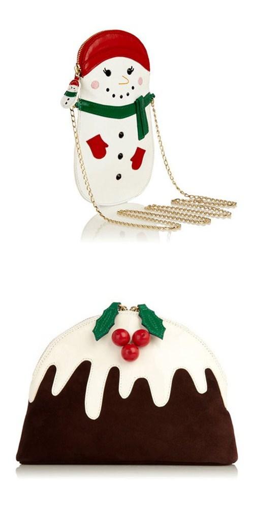 Клатчи из рождественской коллекции Charlotte Olympia