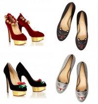 Туфли из рождественской коллекции Charlotte Olympia