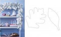 Поделка к Новому году: бумажная гирлянда