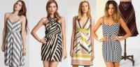 Иллюзия рисунка одежды: косые линии