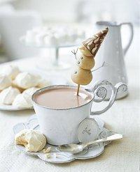 Идея подачи новогоднего чая или кофе к торту