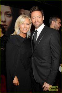 Хью Джекман с женой на премьере фильма «Отверженные» в Нью-Йорке