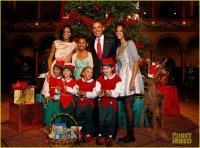 Барак и Мишель Обама на концерте «Рождество в Вашингтоне»