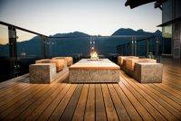 Бетонная мебель для открытой террасы от Sticks and Stones Furniture