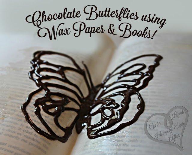 Объемная бабочка из шоколада для украшения торта
