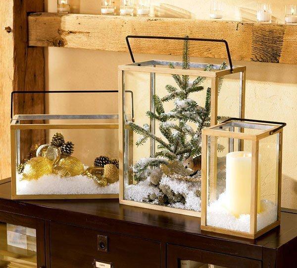 Новогодние композиции в аквариумах