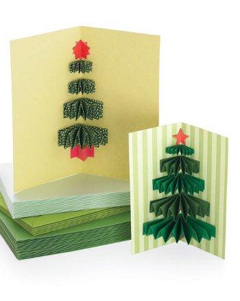 Новогодняя открытка с елочкой своими руками