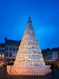 Фарфоровая рождественская елка в Хасселте, Бельгия