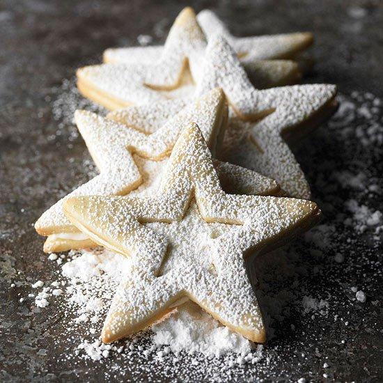 Лимонное рождественское печенье-сэндвич