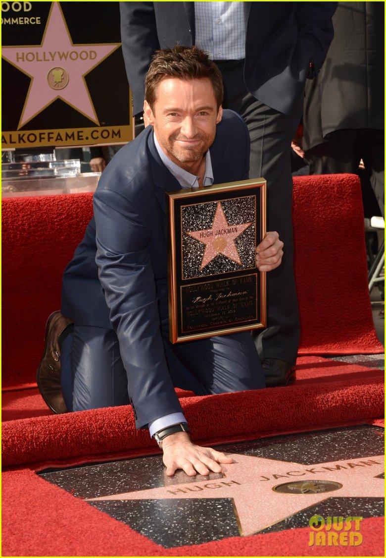 Хью Джекман получил звезду на голливудской «Аллее славы»