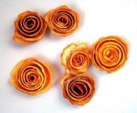 Розы из апельсиновой корочки