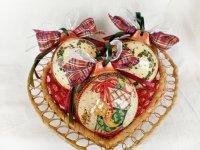 Елочные шары ручной работы как подарок на Новый год