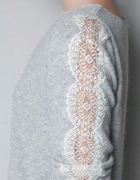Переделка вещей: кружевной свитер