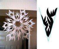 Шаблон для красивой снежинки